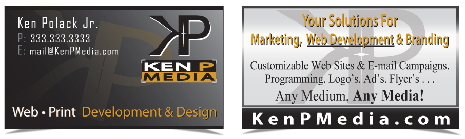 Ken P Media Business Cards