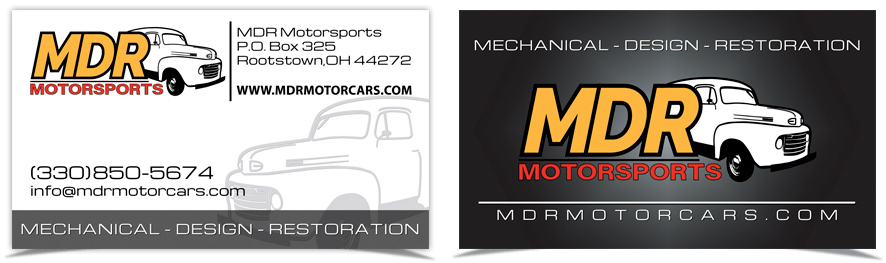 MDR Motorsports Business Cards