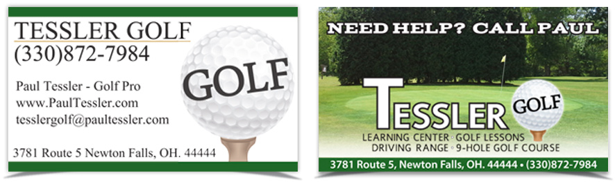 Tessler Golf Business Cards