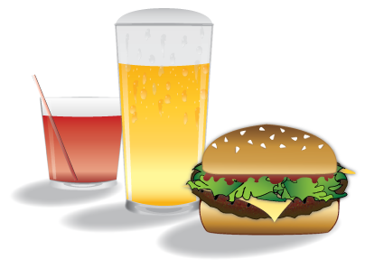 Drinks and Burger Illustrations